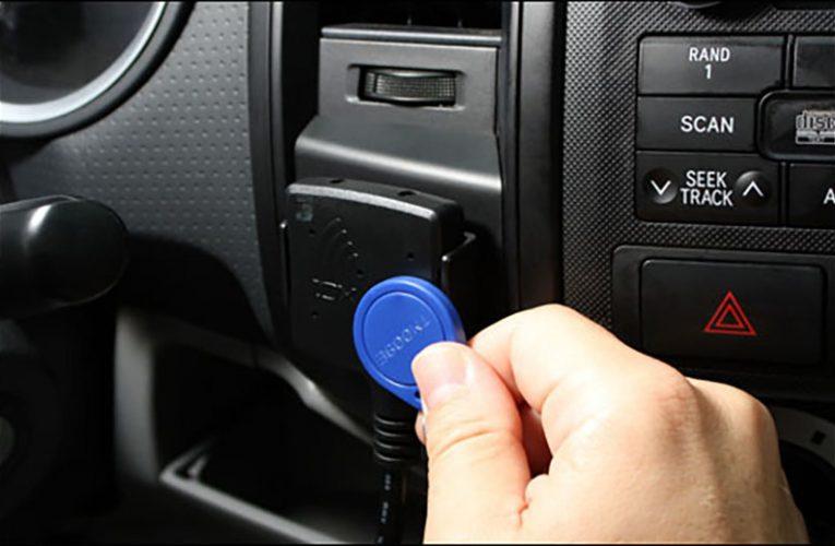 Geotab Apply NFC RFID Keyfob for Managing Fleet Vehicles